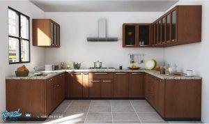 Indian Kitchen Set Minimalis Kayu Jati Model Terbaru