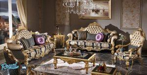 Jual Set Sofa Tamu Mewah Model Klasik Jepara Terbaru