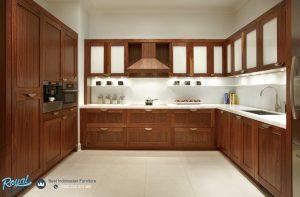 Model Kitchen Set Cabinet Mewah Kayu Jati Model Minimalis Terbaru