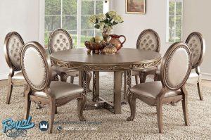 Model Set Kursi Meja Makan Mewah Round Table Set Terbaru