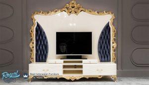 Set Bufet TV Loneta Mewah Luks Model Klasik Eropa Terbaru