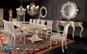Set Dining Room Mewah Model Selina Eropa Klasik Model Terbaru