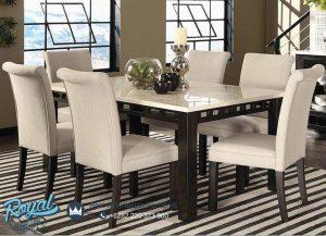 Set Meja Makan Minimalis American Style Model Dining Room Terbaru