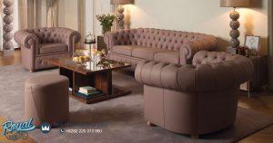 Sofa Tamu Mewah Full Jok Minimalis Modern Desain Terbaru