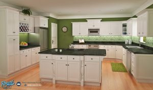 Classic White Sheker Kitchen Set Kabinet Modern Mewah Terbaru