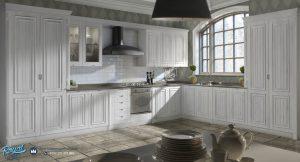 Furniture Set Minimalis American Style Duco Putih Terbaru