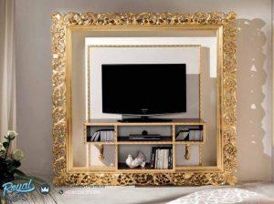 Jual Bufet TV Set Mewah Cornice Klasik Minimalis Terbaru