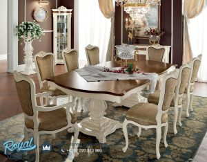 Luxury Dining Room Set Mewah Carved Model Kursi Makan Terbaru