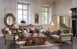 Luxury Set Living Room Mewah Klasik Kursi Tamu Model Terbaru