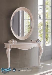 Model Console Table Mirror Murah Cat Duco Putih Mewah Terbaru