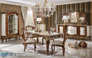Model Furniture Set Meja Makan Jati Klasik Terbaru