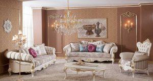 Set Kursi Tamu Sofa Mewah Selena Italian Klasik Terbaru