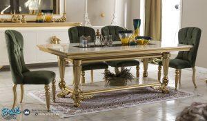Gambar Katalog Set Meja Makan Mewah Klasik Gold