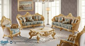 Set Sofa Tamu Mewah Mondi Koltuk Klasik Ukiran