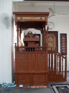 Mimbar Masjid Jati Ukir Jepara Model Terbaru