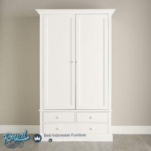 Model Lemari Pakaian Minimalis 2 Pintu Putih Duco Terbaru