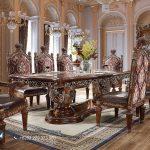 Meja Makan Mewah Klasik Ukiran Kayu Jati Jepara Eropan Style Terbaru