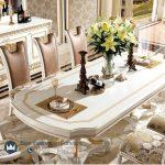 Desain Set Meja Makan Jepara Terbaru Luxury Modern Ukiran Jepara