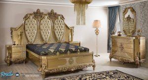 Model Set Tempat Tidur Ukir Jepara Terbaru Gold Piraye Luxury