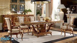 Desain Kursi Meja Makan Kayu Jati Klasik Mewah Ukir Jepara Terbaru Versailles