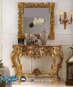 Meja Konsul Klasik Mewah Gold Antique