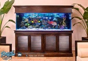 Model Aquarium Minimalis Kayu Jati Jepara Terbaru