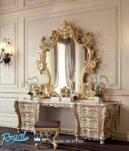 Model Meja Rias Mewah Klasik Ukir Jepara Italyanskaya