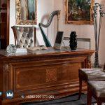 Model Meja Kantor Jati Minimalis Klasik Vivaldi