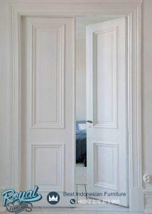 Pintu Utama Kupu Tarung Minimalis Warna Putih Duco