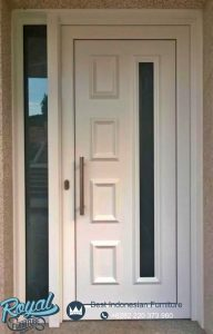 Pintu Utama Minimalis Kayu Jepara Warna Putih