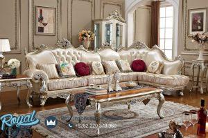 Sofa Ruang Keluarga Ukiran Jepara Klasik Silver