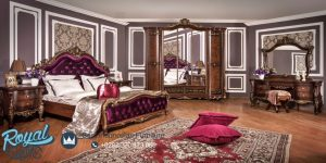 Jual Set Kamar Tidur Mewah Jati Klasik Rusian
