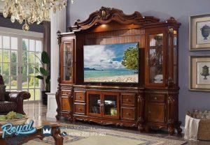 Bufet Lemari Tv Jati Klasik Jepara Gionano