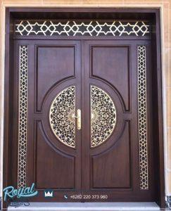 Model Pintu Utama Jati Ukir Arabian
