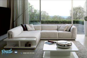Set Sofa Tamu Leter L Minimalis Apartemen Model Mewah Terbaru