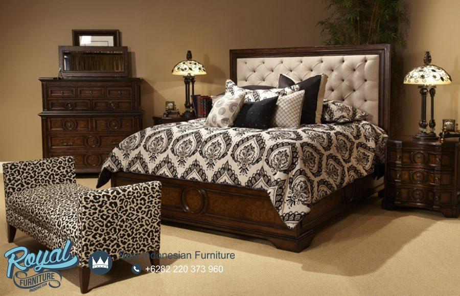 King Size Bedroom Furniture Mewah Kayu Jati Set Terbaru Royal Furniture Jepara