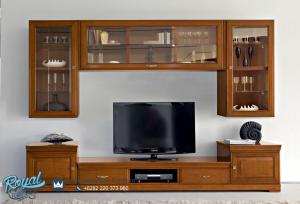Produk Furiture Bufet TV Bellagio Jati Minimalis Terbaru