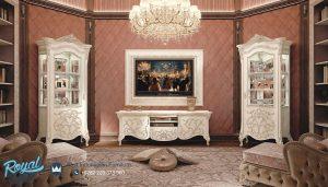 Set Bufet TV Mewah Tritico Eropa Klasik Set Lemari Hias Terbaru
