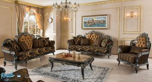Set Sofa Tamu Mewah Italian Klasik Ruang Tamu Set Terbaru