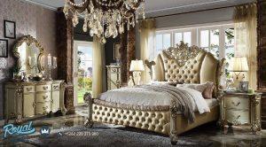 Kamar Tidur Ukir Klasik Jepara Gold Duco Vendom Terbaru