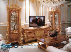 Model Bufet Tv Mewah Klasik Terbaru Ukir Jepara Palace