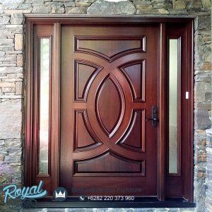Pintu Kayu Jati Jepara Moulding Solid