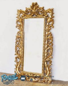 Bingkai Pigura Ukir Cermin Hias Dinding Gold