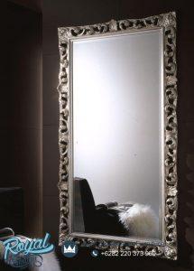 Cermin Dinding Ukir Jepara Silver Specchiera